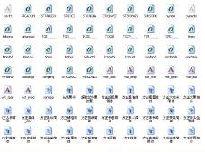 340款字体下载图片