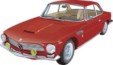 红色跑车\车、背景车