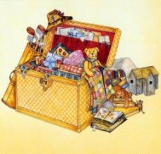 油画 玩具箱图片