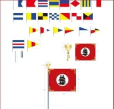 三角旗 彩旗 信號旗 仿古旗 裝飾圖案圖片