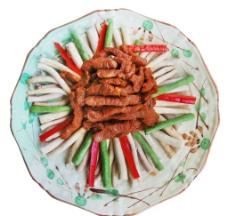 茶树菇炒牛柳图片