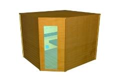 家居装饰桑拿CAD素材图片