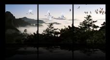 黄山云海风景图无框画设计