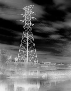 高压电杆图片