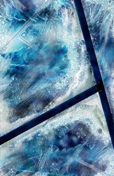 冰雪窗花图片