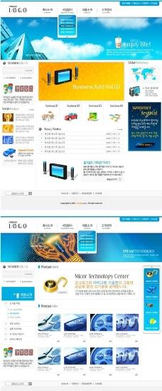 韩国商务网页模板图片_网页界面模板_ui界面设计_图行