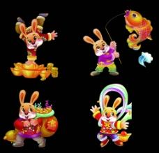 卡通兔子素材图片