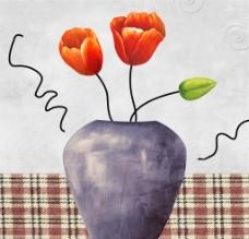 花瓶和花图片