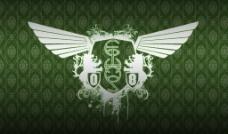 绿色飞鹰标志图片