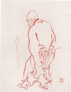 108罗汉线描图稿图片