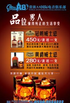 威士忌 灯箱 海报 酒吧图片