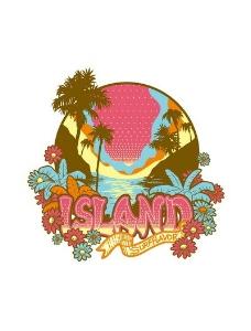 岛屿 字母 椰树图片