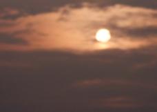 傍晚的太阳图片