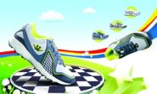 鞋 产品画册 色彩 天空图片