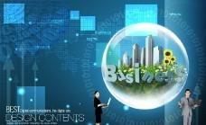 商务 科技 电脑 绿化图片