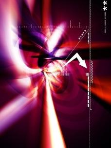 动感紫色商务科技背景 光线 箭头图片