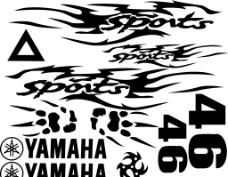 车贴 雅马哈 yamaha sports 46图片