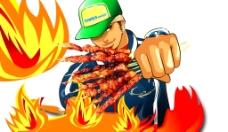 烧烤人物 火图片