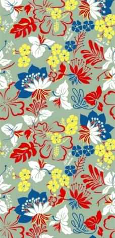 兰花红叶花纹图片