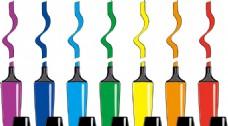 彩色画笔矢量素材