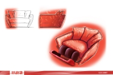 PS手绘沙发设计图片