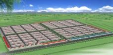 养殖厂鸟瞰图图片