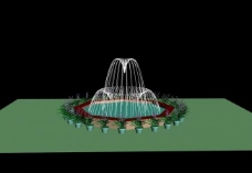 喷泉3d设计图片