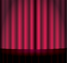 红色幕布背景图片