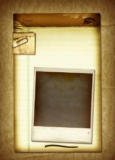 牛皮纸 信纸 曲别针 黑板图片
