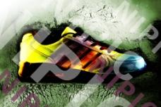 鞋 破 墻 復古 踢破 色彩圖片