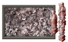 木雕工藝品PSD分層素材模板圖片
