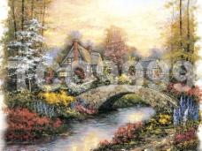 油画 手绘油画 田园风景(26x21厘米)图片
