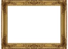 华丽金色花纹相框图片